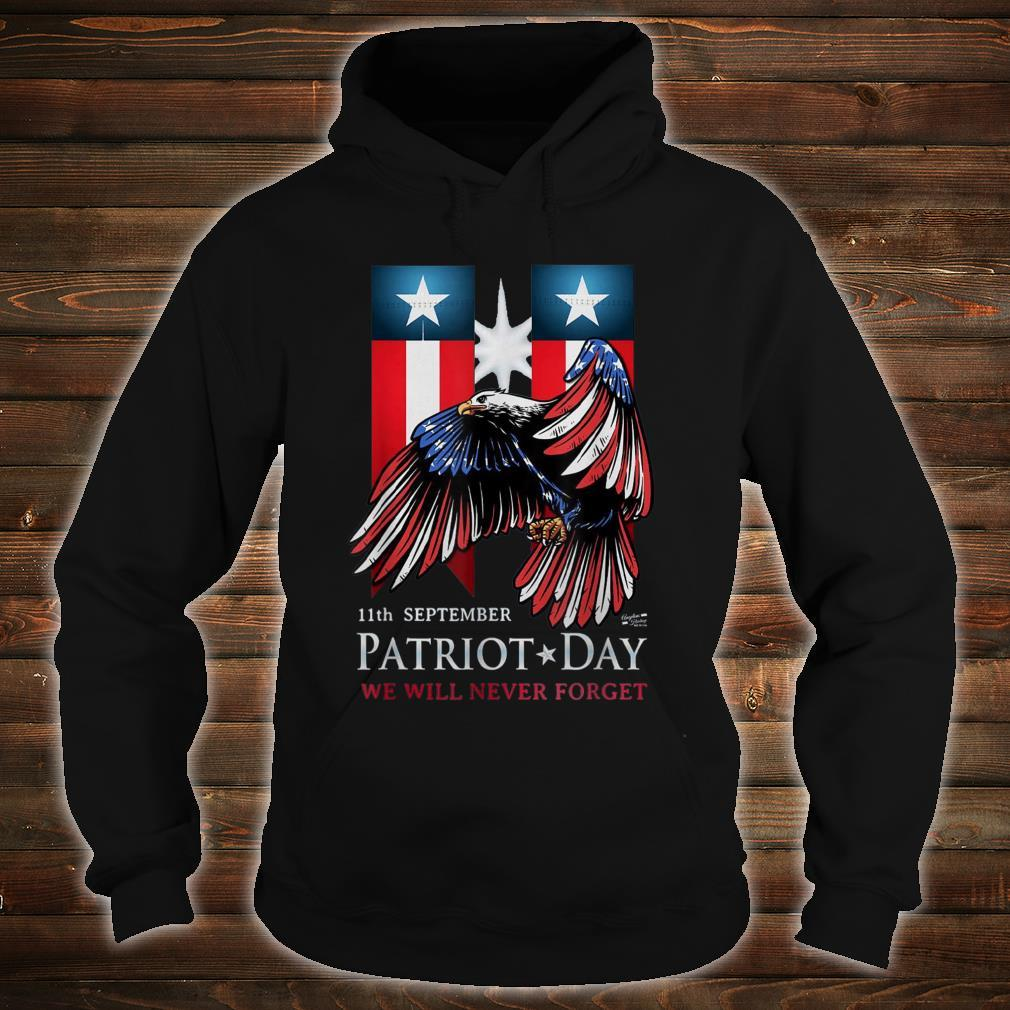 11th September Patriot Day Never Forget American Flag Shirt hoodie