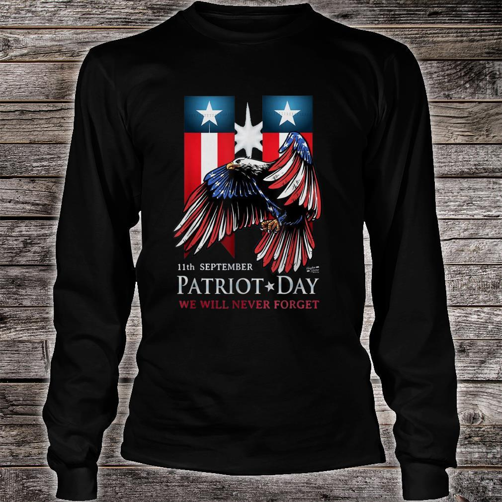 11th September Patriot Day Never Forget American Flag Shirt long sleeved