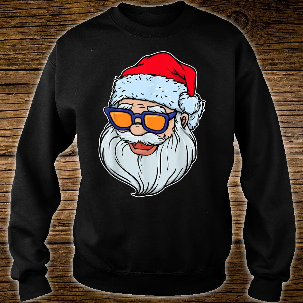 Cool Sunglasses Santa Claus Merry Christmas Party Shirt sweater