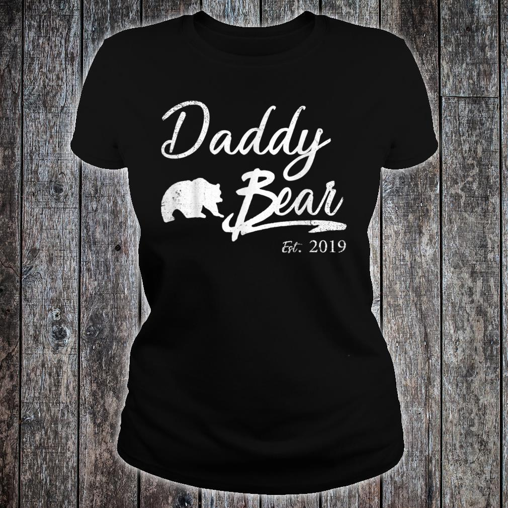 Daddy Bear Est 2019 Shirt Shirt For Father Day Shirt ladies tee