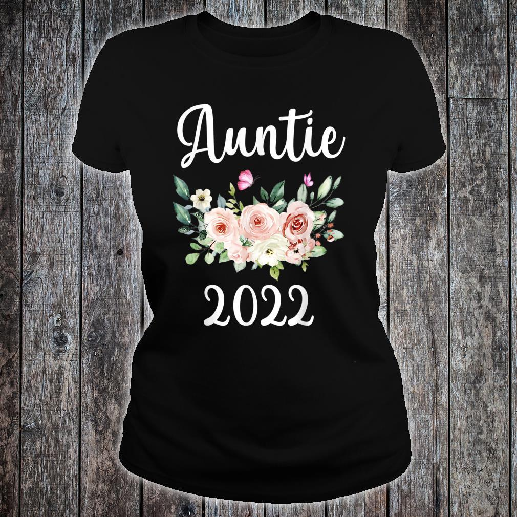 Floral Auntie 2022 Mother's Day Shirt ladies tee