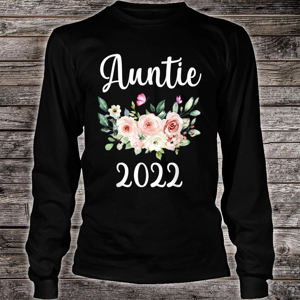 Floral Auntie 2022 Mother's Day Shirt long sleeved