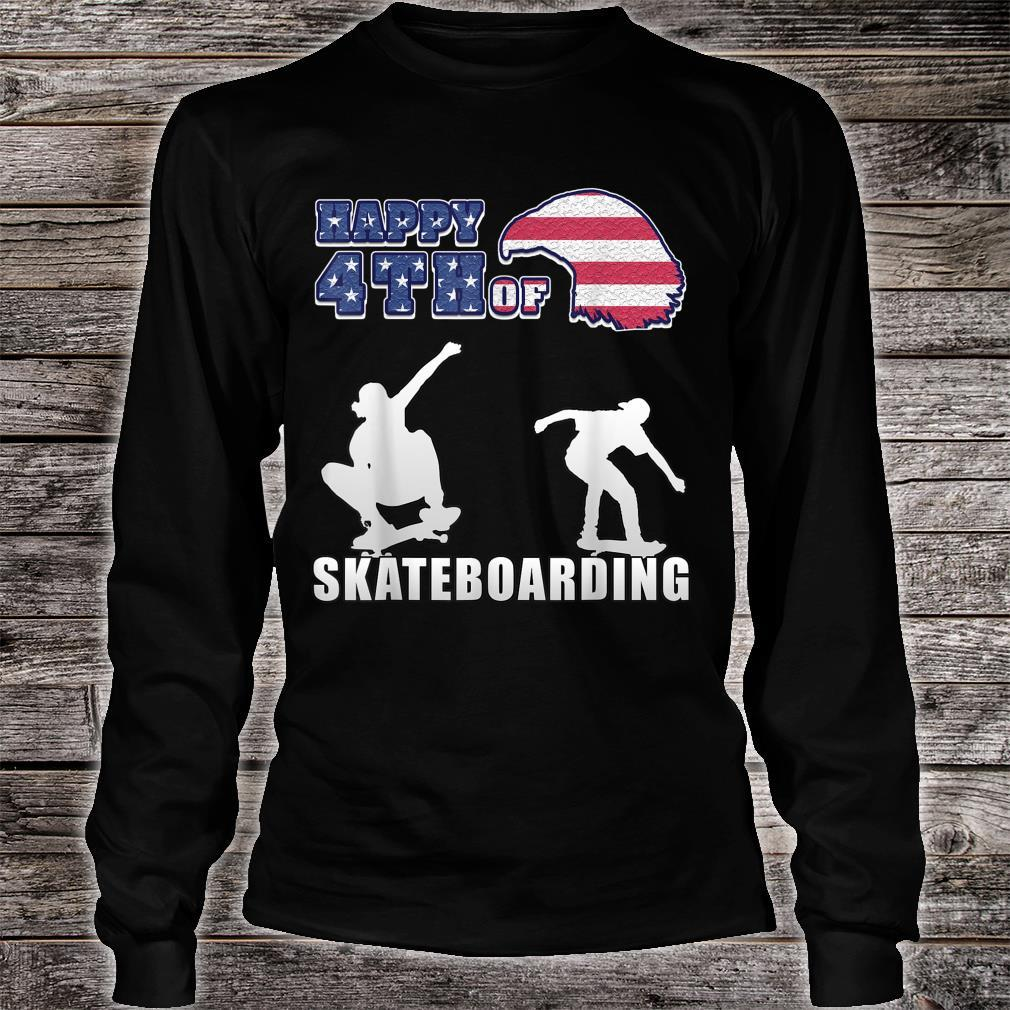 Happy 4th of july US Independence Day for skaters Shirt long sleeved