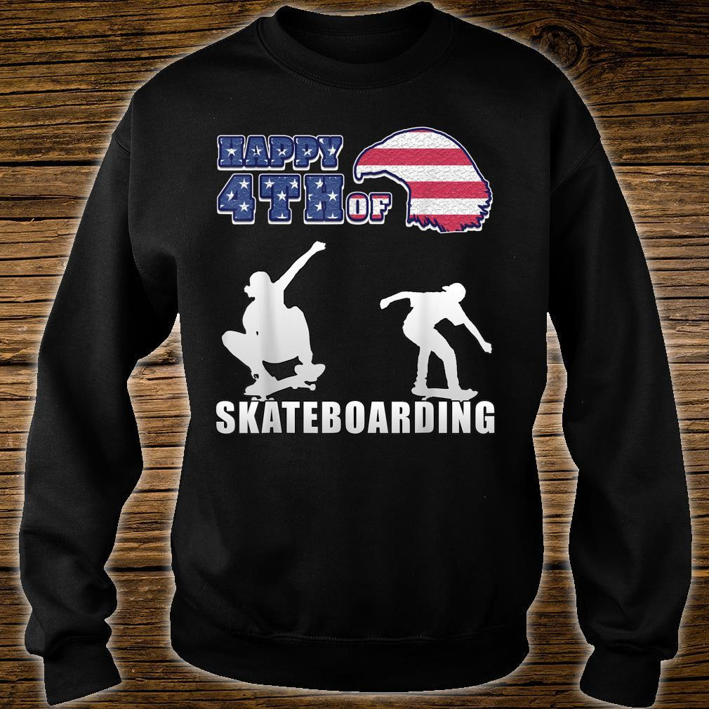Happy 4th of july US Independence Day for skaters Shirt sweater