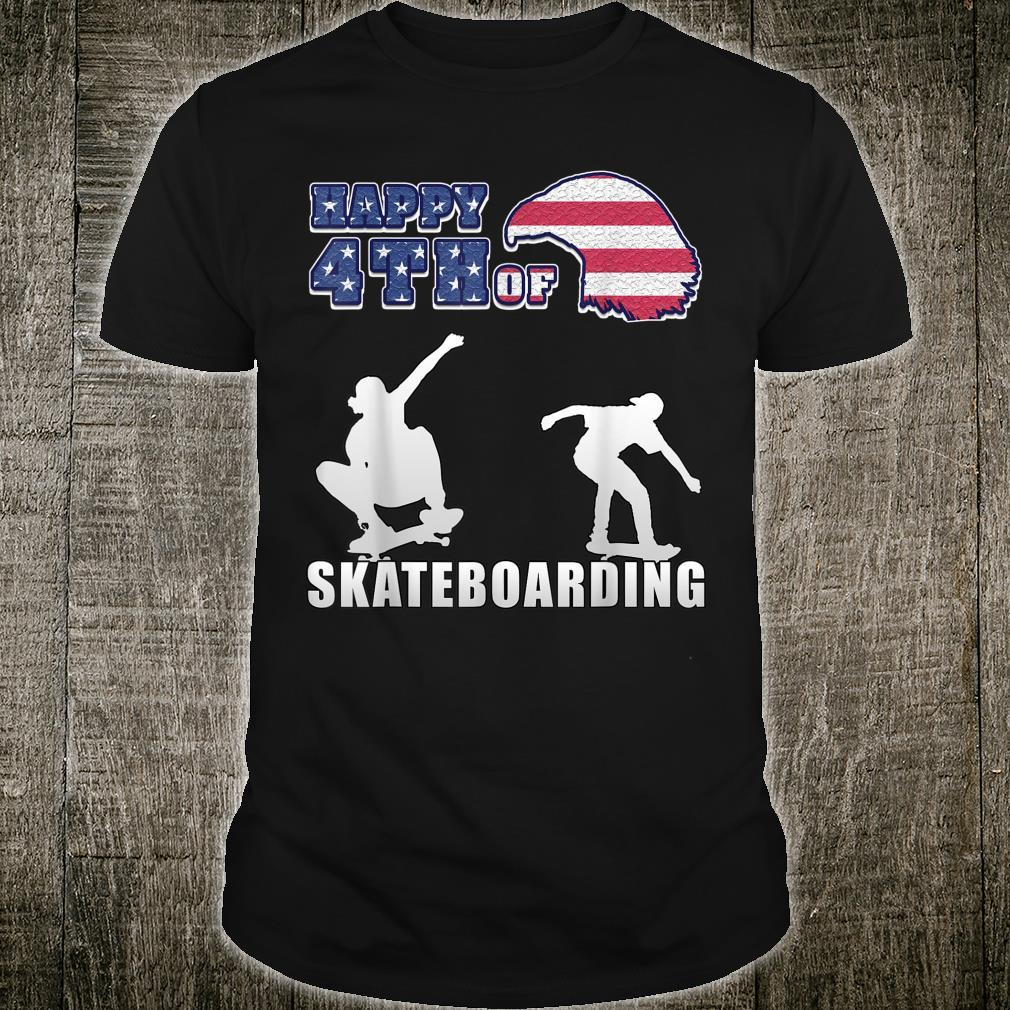 Happy 4th of july US Independence Day for skaters Shirt