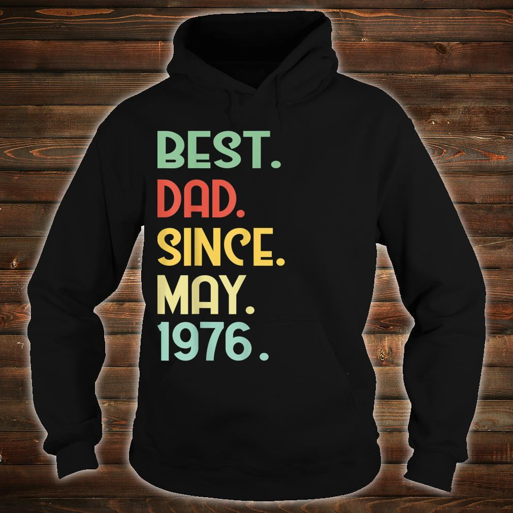 Mens Vintage Best Dad Since May 1976 43rd Proud Father Day shirt hoodie