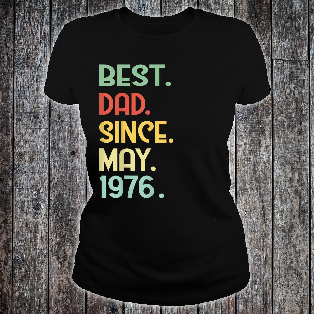 Mens Vintage Best Dad Since May 1976 43rd Proud Father Day shirt ladies tee