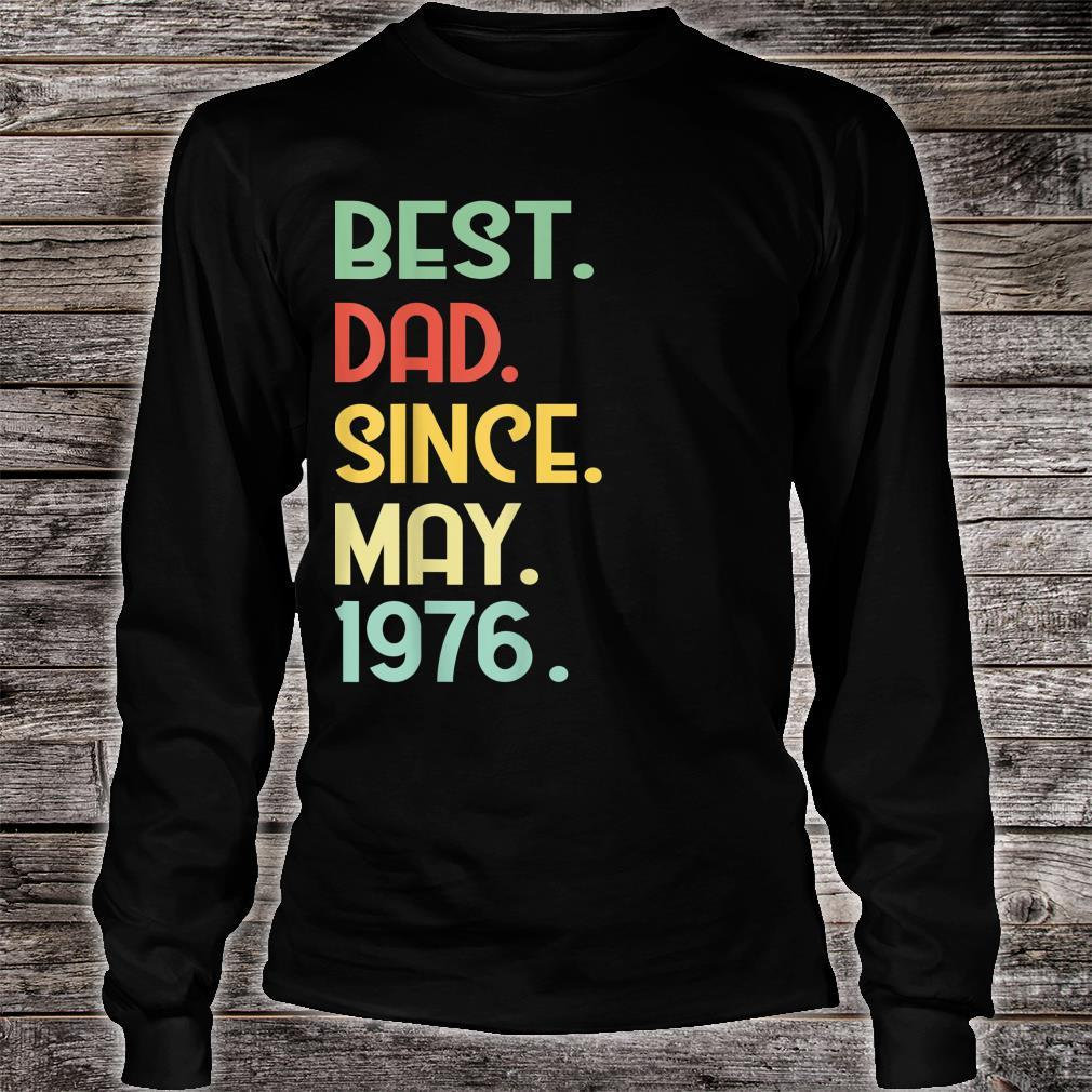 Mens Vintage Best Dad Since May 1976 43rd Proud Father Day shirt long sleeved