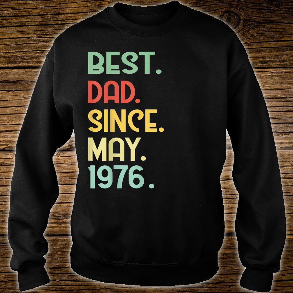 Mens Vintage Best Dad Since May 1976 43rd Proud Father Day shirt sweater