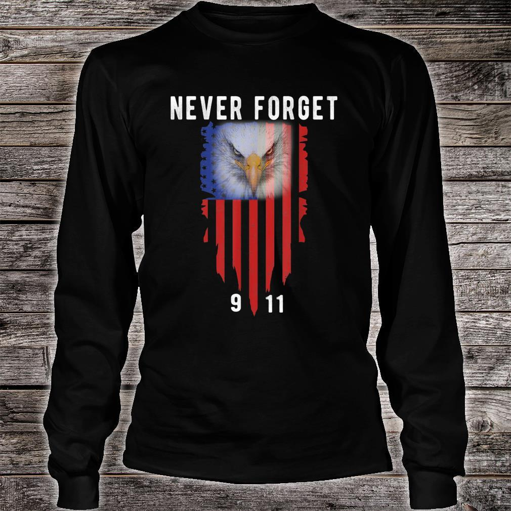 Never Forget 911 20th Anniversary Patriot Day 2021 Shirt long sleeved