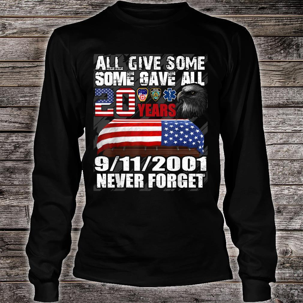 We Will Never Forget 911 20th Anniversary Patriot Day 2021 Shirt long sleeved